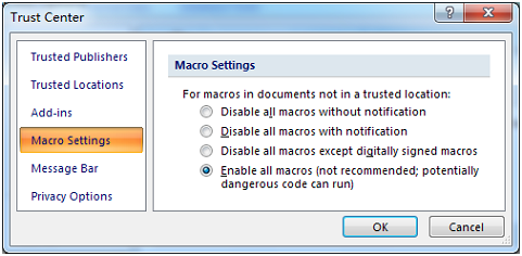 GS1128 Access Macro Setting