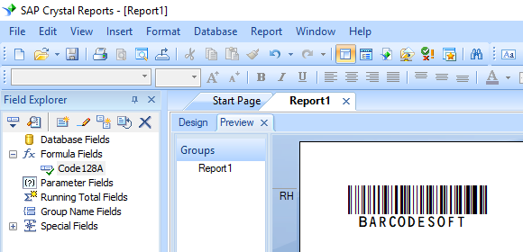 code128 barcode crystal reports