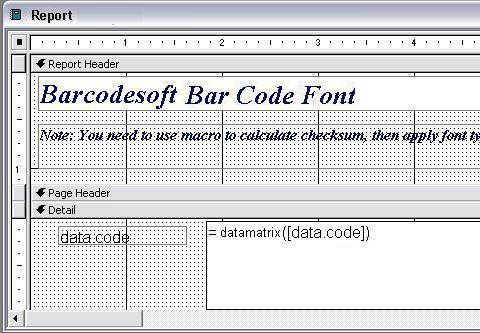 data matrix barcode excel macro