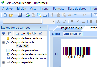 code128 código de barras crystal reports