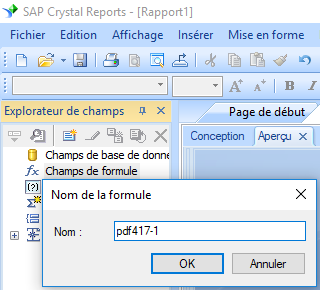 PDF417 create formule crystal reports