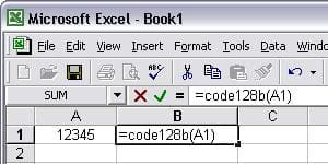 Code128 Excel マクロ