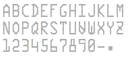 double density semi font character set